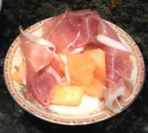 prosciutto and melon image